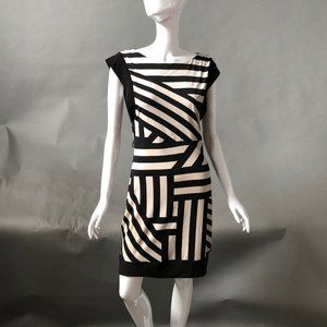Bisou Bisou Geometric Dress -sz 4
